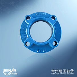 China Round Bearing Blocks Housings With Set Screws Locking / Synthetic Lip - Type Seals FC209 supplier