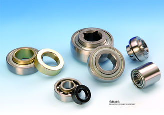China Chrome Steel Agricultural Bearings With Cast Iron Housing And Round Bore supplier
