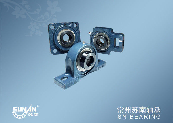 Cast Iron Water Pump Bearing Block Assembly / Flanged Bearing Housing