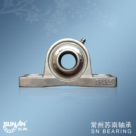 Industrial Stainless Steel Pillow Block Bearing SSUCP205 , Mounted Ball Bearing Unit