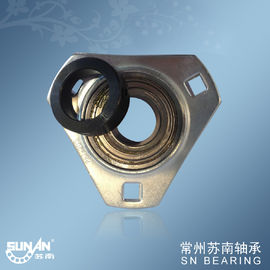China Three Bolt Stamped Steel Pillow Block Bearings , Sealed Flange Bearing SAPFT206 distributor